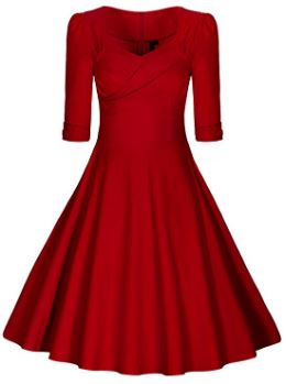 Rotes Rockabilly Kleid mit toller Passform auch für kurvige Frauen